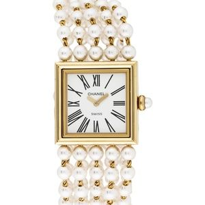 Chanel Mademoiselle 18k Gold Watch